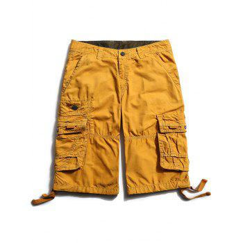 Zipper Fly Flap Pockets Cargo Pants