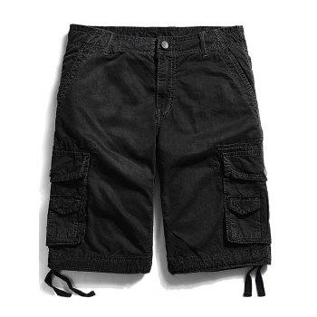 Pockets Zip Fly Straight Cargo Shorts