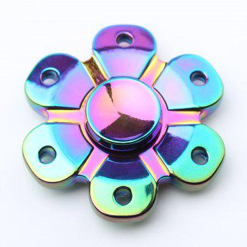 Flower Shape Colorful EDC Fidget Metal Spinner - COLORMIX COLORMIX
