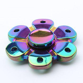 Flower Shape Colorful EDC Fidget Metal Spinner - multicolorcolore