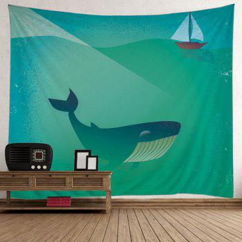 Wall Hanging Whale Boat Pattern Tapestry