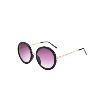Round Metal Frame UV Protection Sunglasses with Box