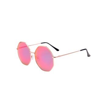 Geometric Statement Anti UV Sunglasses with Box
