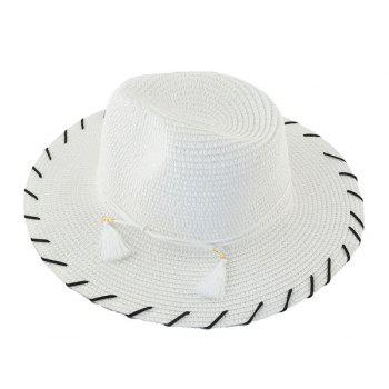 Tassel Beach Fedora Straw Hat