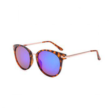 Cat Eye Reflective Sunglasses and Box