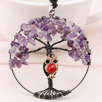 DIY Tree of Life Owl Charm Necklace
