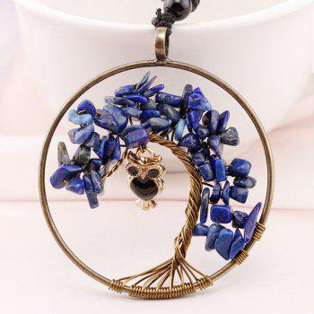 DIY Circle Tree of Life Owl Necklace