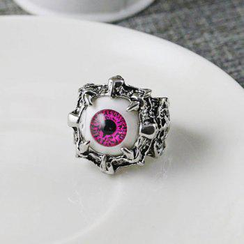 Stainless Steel Devil Eye Shape Ring - RED RED