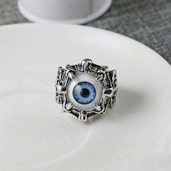 Stainless Steel Devil Eye Shape Ring - BLUE 10