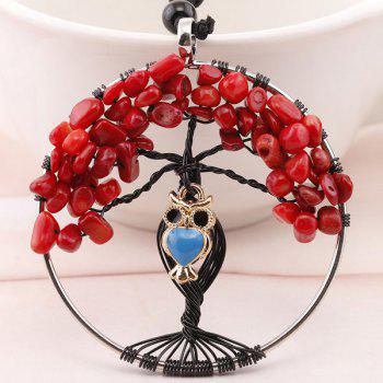 DIY Owl Tree of Life Charm Necklace