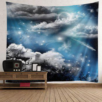 Night Moon Star Wall Tapestry