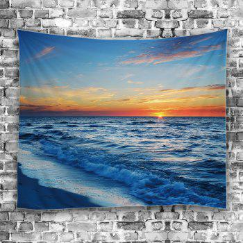 Seaside Sunset Wall Decor Tapestry - Bleu clair W59 INCH * L79 INCH