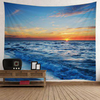 Seaside Sunset Wall Decor Tapestry
