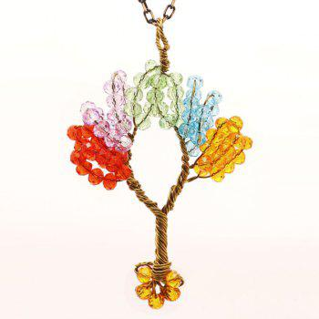 DIY Beads Tree of Life Pendant Necklace