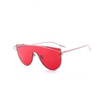Long Metal Crossbar Shield Sunglasses