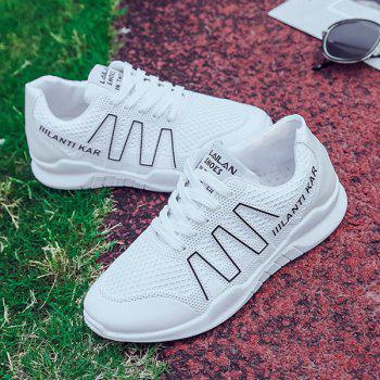 Lace Up Breathable Mesh Sneakers - 37 37