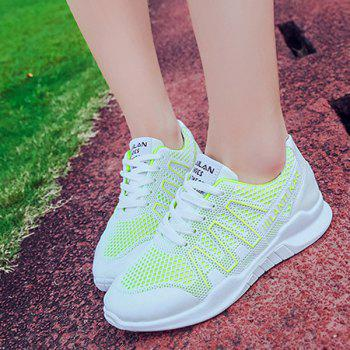 Lace Up Breathable Mesh Sneakers - 39 39