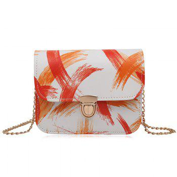 Ink Paint Mini Crossbody Bag - ORANGE ORANGE