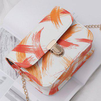 Ink Paint Mini Crossbody Bag -  ORANGE