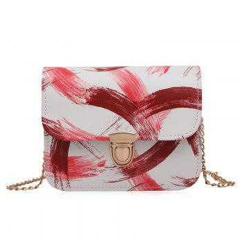 Ink Paint Mini Crossbody Bag - RED RED