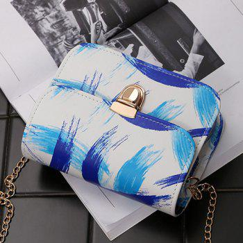 Ink Paint Mini Crossbody Bag -  BLUE