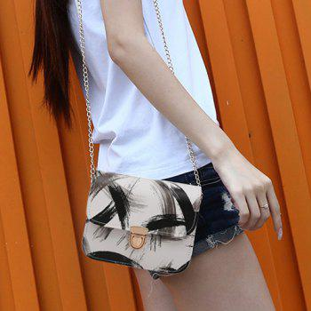 Ink Paint Mini Crossbody Bag -  BLACK