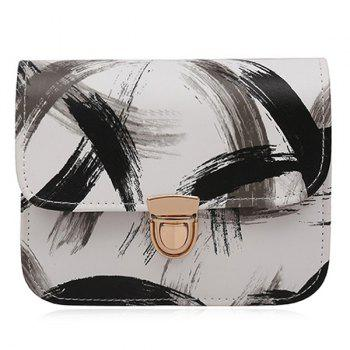 Ink Paint Mini Crossbody Bag - BLACK BLACK