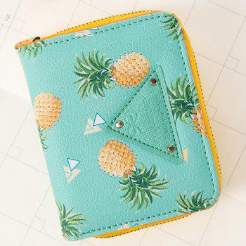 Bi Fold Fruit Print Small Wallet
