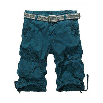Multiple Pockets Zip Fly Cargo Shorts