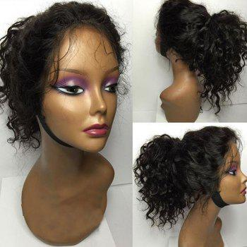 Long Free Part Shaggy Curly Human Hair Lace Front Wig