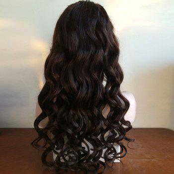 Long Loose Wave Middle Part Lace Front perruque de cheveux humains - Naturel Noir