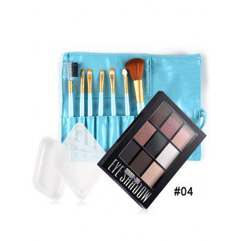 Silicone Sponges Makeup Brushes Eyeshadow Palette Set