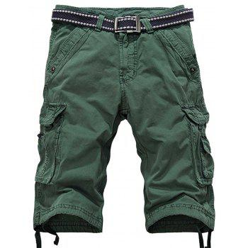 Zipper Fly Cargo Shorts with Multiple Pockets