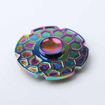 Geometric Pattern Round Colorful Fidget Metal Spinner -  COLORMIX