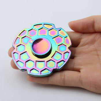 Geometric Pattern Round Colorful Fidget Metal Spinner