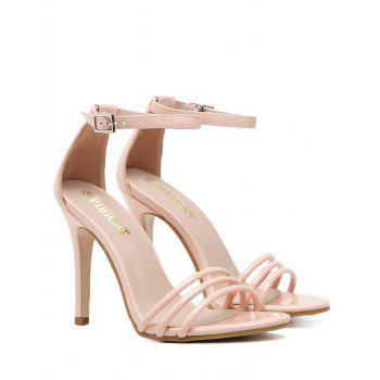Strappy Ankle Strap Patent Leather Sandals