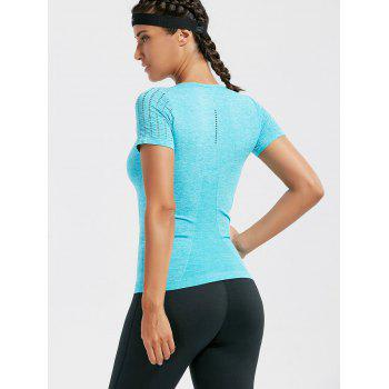 Breathable Ripped Workout T-shirt - M M