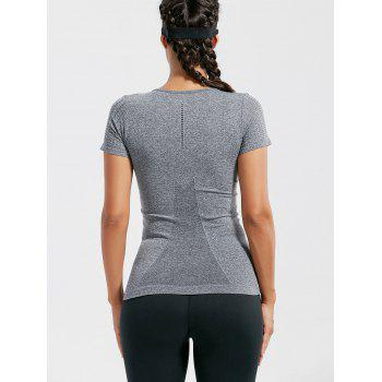 Breathable Ripped Workout T-shirt - S S