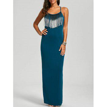 Fringed Cami Maxi Dress