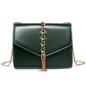 Tassel Chains Cross Body Bag - GREEN GREEN