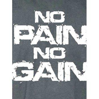 No Pain No Gain Bodybuilding Tank Top - DEEP GRAY M