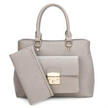 PU Leather Handbag and Clutch Wallet