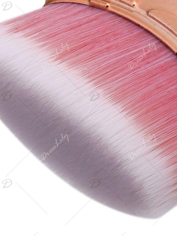 3Pcs Ombre Mermaid Tail Makeup Brushes Kit - Or Rose