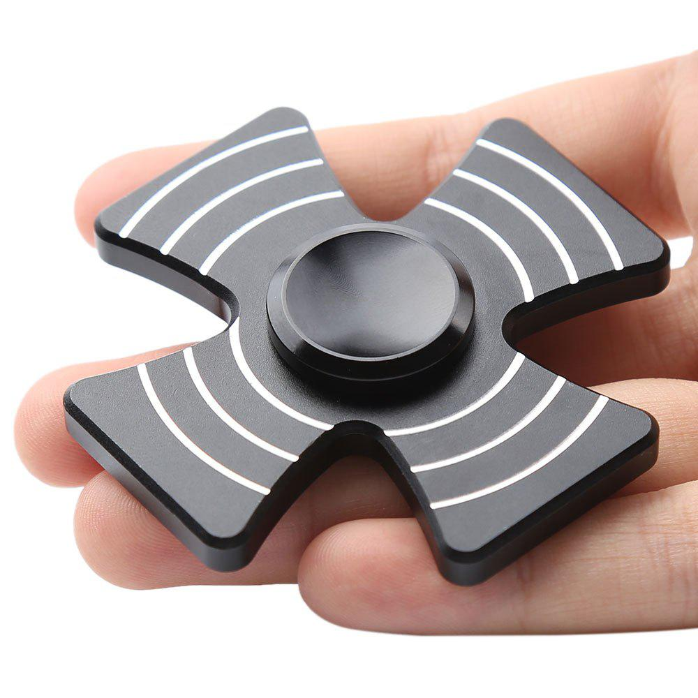 Cross Shape Quad-bar Fidget Metal Spinner - Noir