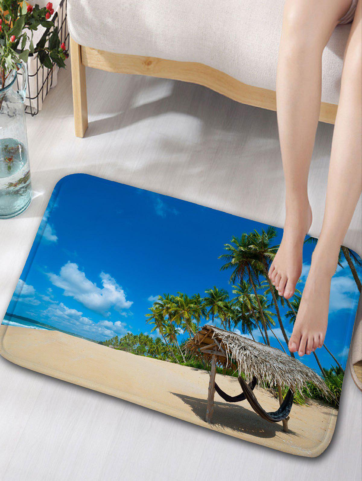 Blue Sky and Sea Print Flannel Skidproof Door Mat все цены