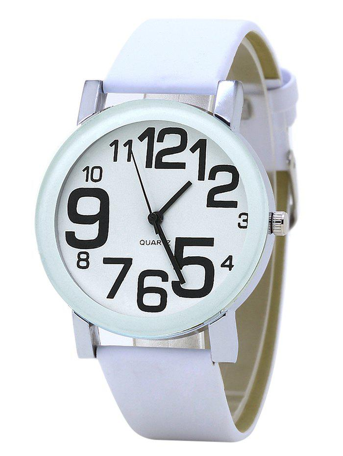 Number Faux Leather Strap Watch faux leather number wrist watch
