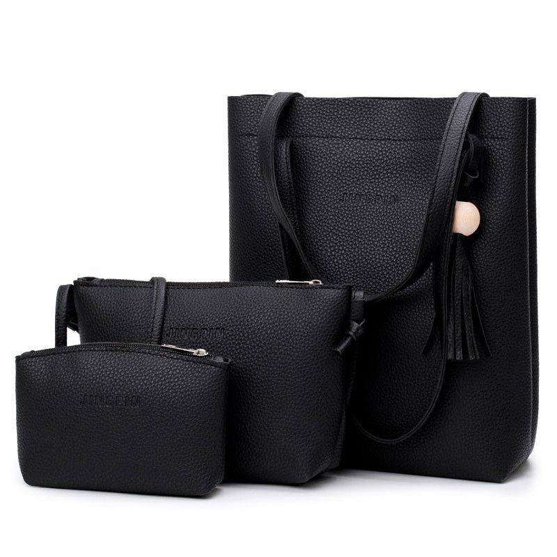 цены Wood Ball Tassel Handbag Set
