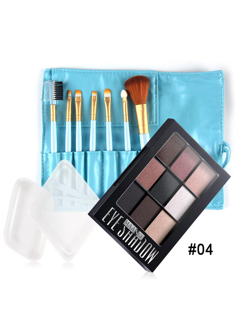 Silicone Makeup Brushes: Silicone Sponges Makeup Brushes Eyeshadow Palette Set In