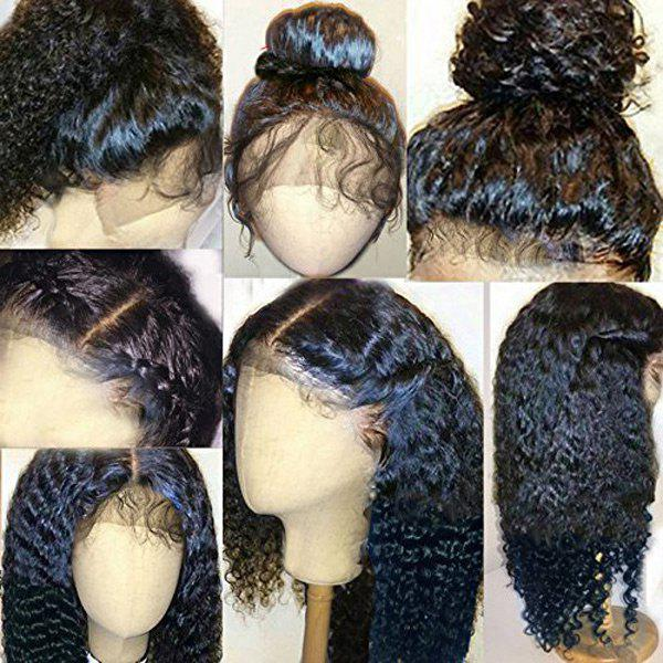 Long Shaggy Free Part Curly Human Hair Lace Front Wig 216643901