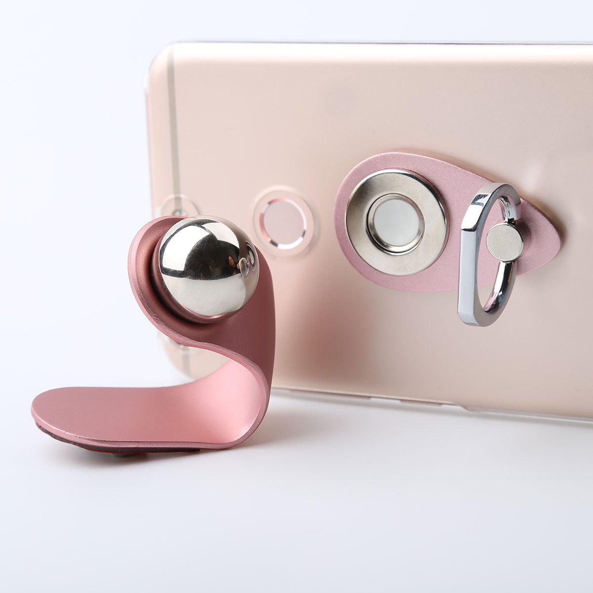 2 in 1 Universal Magnetic Phone Holder Finger Ring - PINK